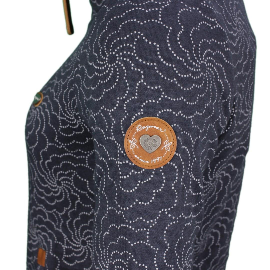 Ragwear Damen Sweat Jacke Sweat Weste Izolda Print blau gemustert 2121 30035 2028 navy