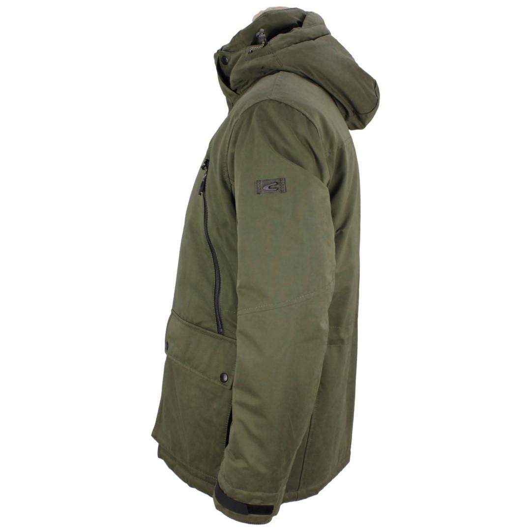 Camel active Herren Winter Parka Jacke Olive grün unifarben 4E74 420340 39