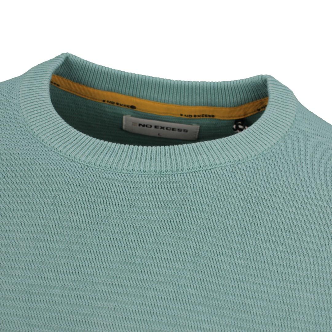 No Excess Strick Pullover Strickpullover grün blau strukturiert 11230102 153 Pacific