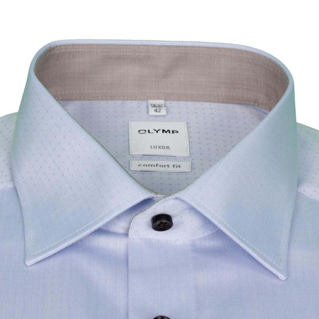Olymp Herren Luxor Comfort Fit Hemd blau Unifarben 1058 34 11