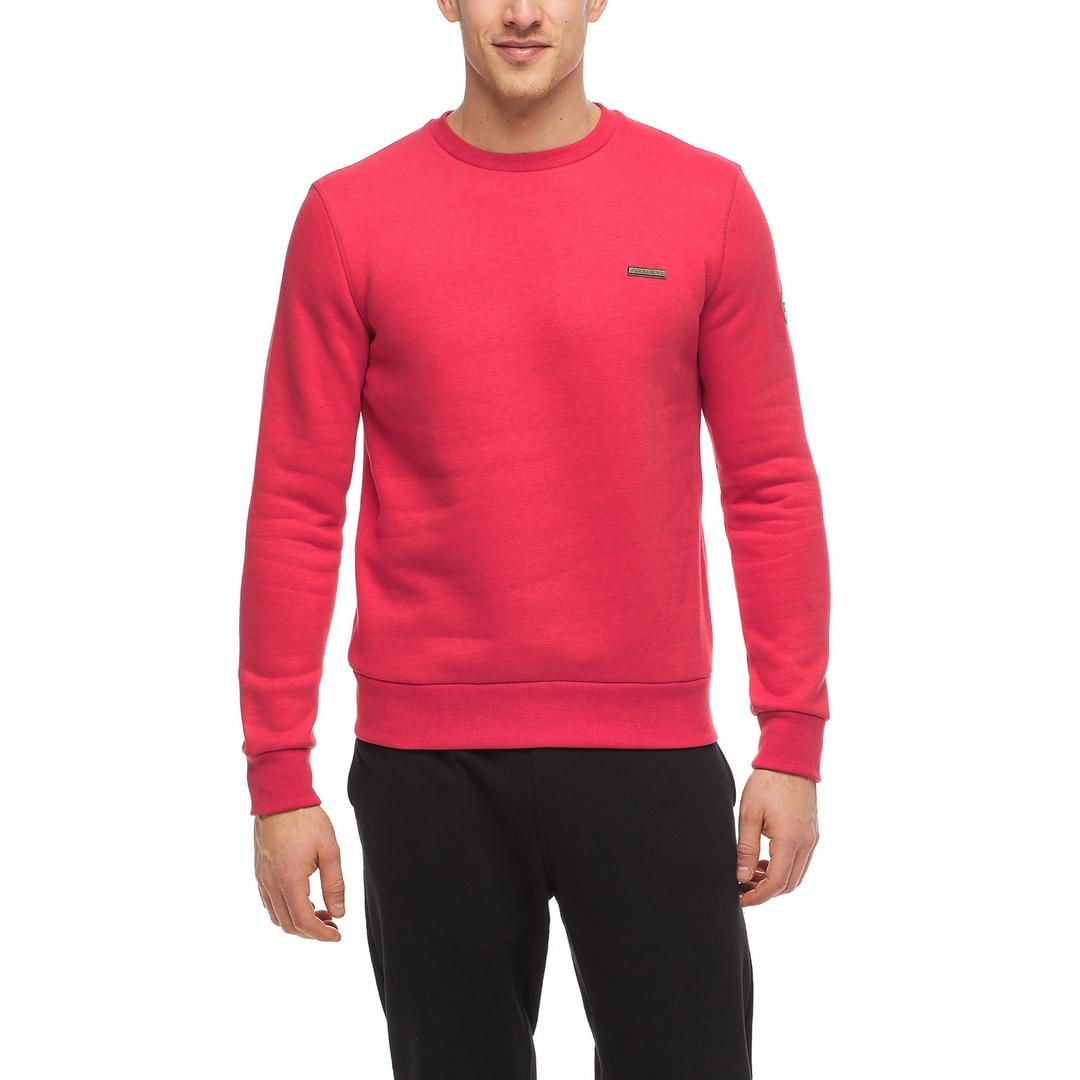 Ragwear Herren Sweatshirt Indie vegan rot unifarben 2122 30001 4000 Red