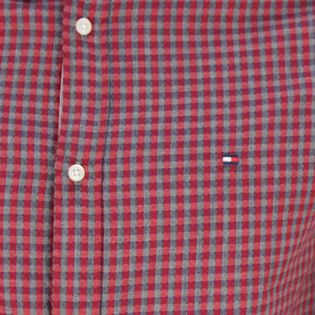 Tommy Hilfiger Herren Hemd rot grau kariert MW0MW11528 0QK