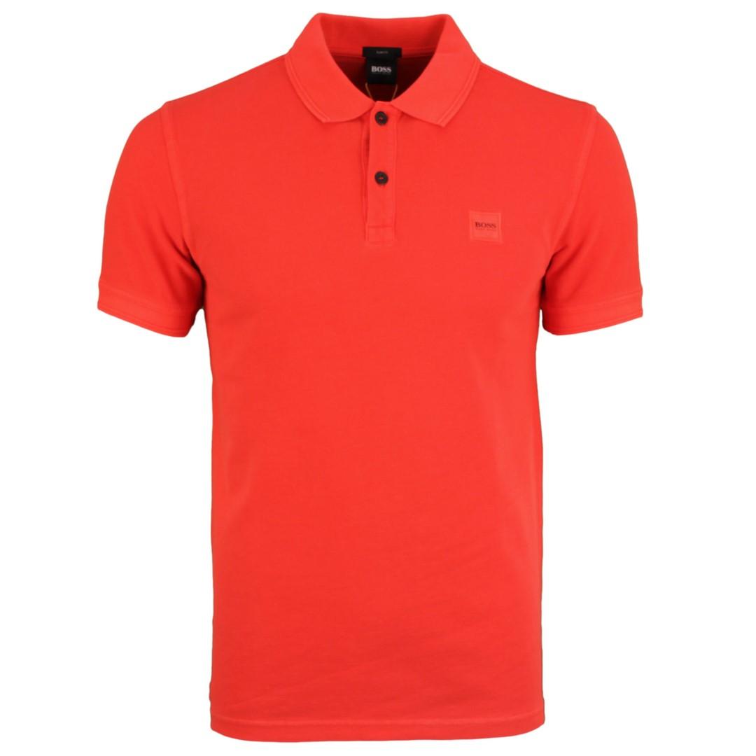 Hugo BOSS Herren Polo Shirt rot Piqué unifarben Prime 50378365 618