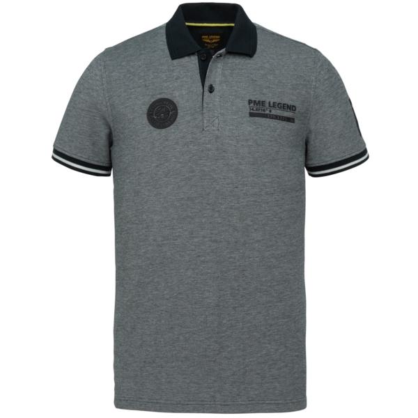 PME Legend Polo Shirt Two Tone Pique blau PPSS214873 5073