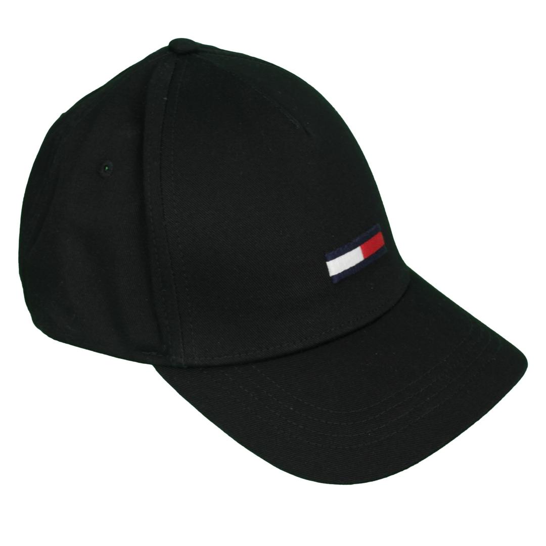 Tommy Hilfiger Herren Baseballcap Kappe Cap schwarz AU0AU00843 BDS Black TJU Flag Cap