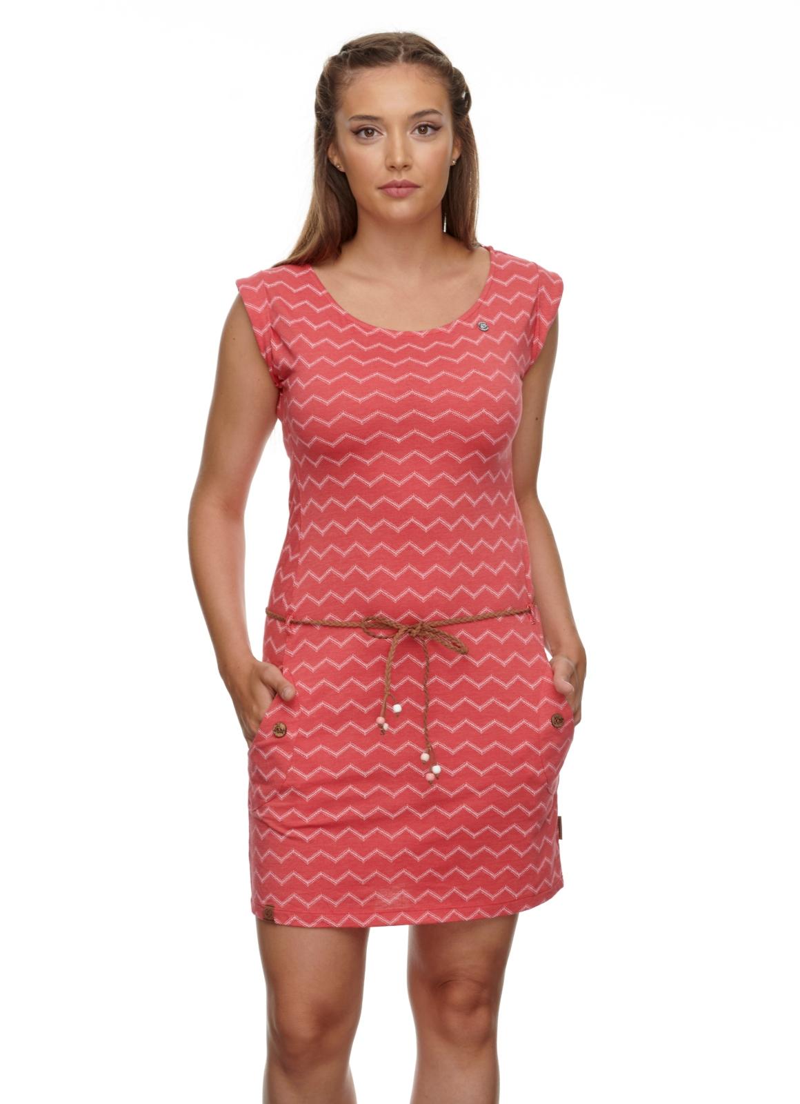Ragwear Damen Kleid Tag Chevron rot weiß gemustert 2111 20016 4000 red