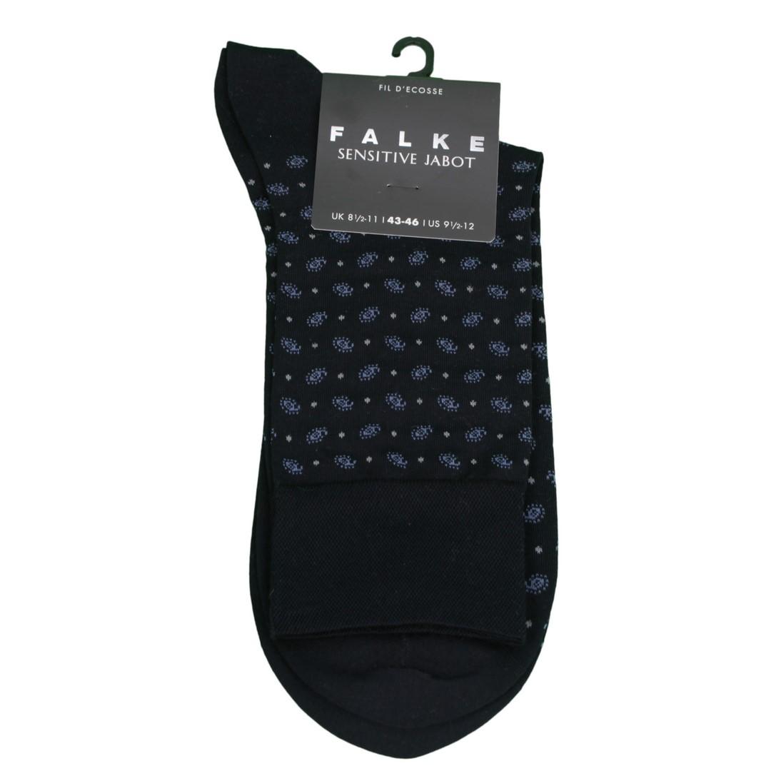 Falke Sensitive Socke Jabot blau gemustert 13344 6375