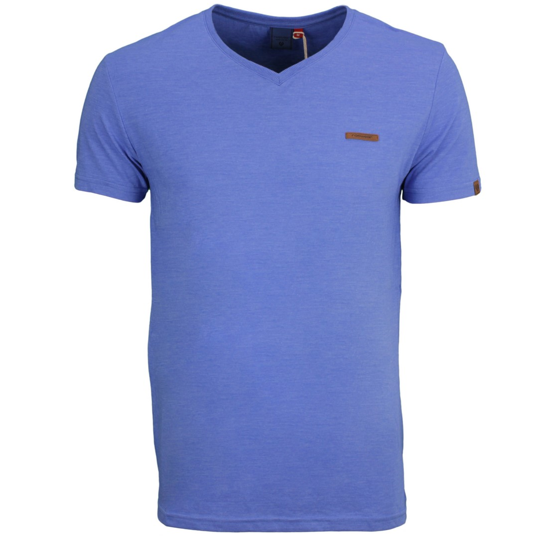 Ragwear Herren T-Shirt Venie blau unifarben 2112 15002 20008 sky blue