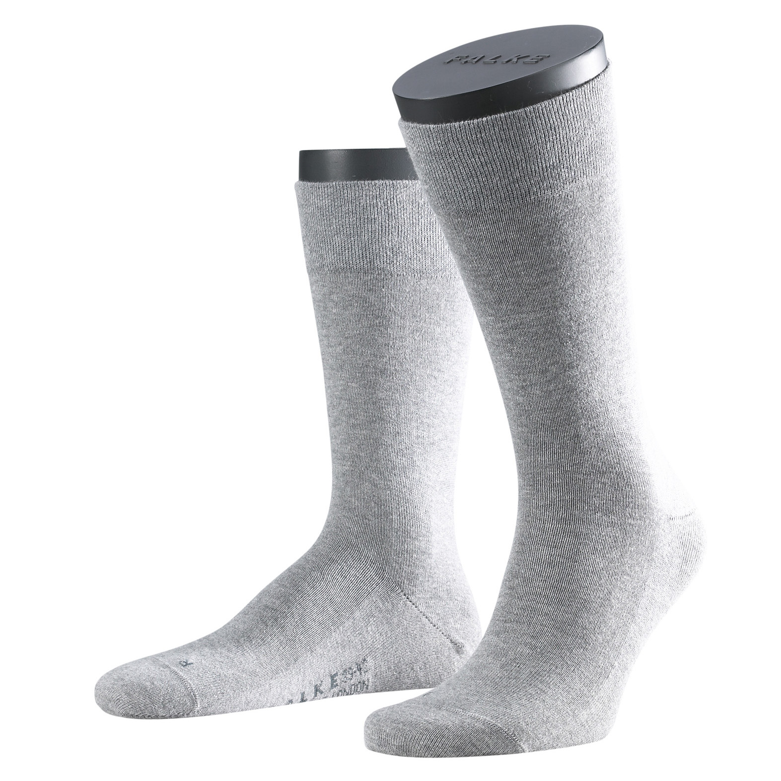 Falke Sensitive Socke London hell grau 14616 - 3390 Basic Baumwolle