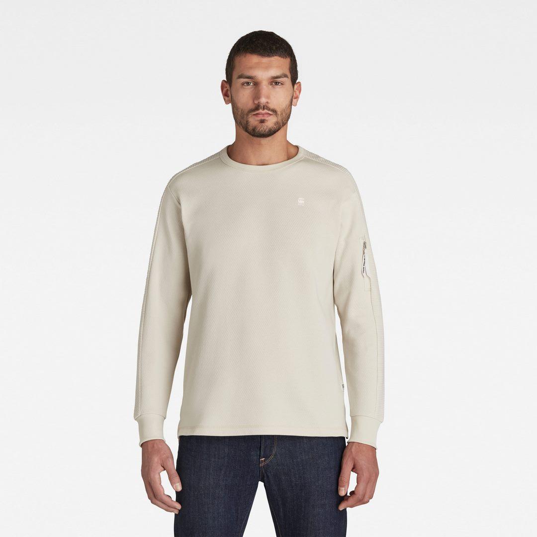 G-Star Raw langarm Shirt Korpaz Pocket beige unifarben D16414 C112 1603