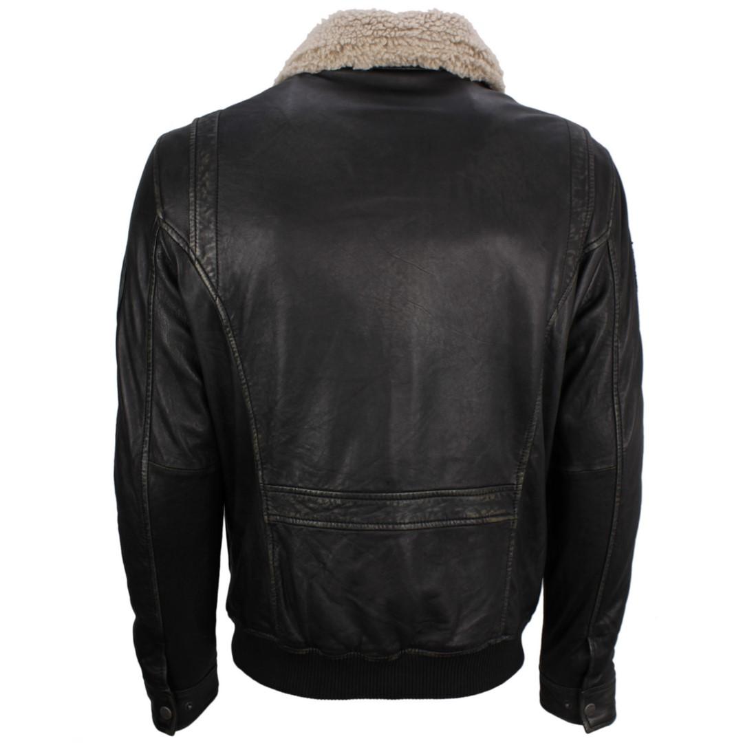 Gipsy Herren Jacke Lederjacke Newzealand schwarz Dubton NSLROV GB  W black