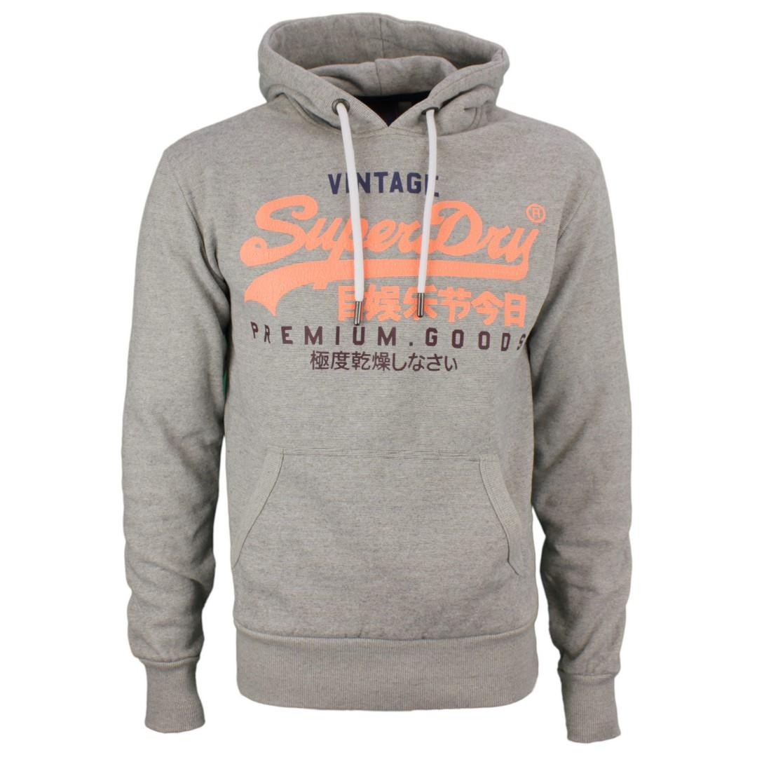 Superdry Sweat Pullover VL TRI Hood grau M2010429B 9ST Silver GLass Feeder