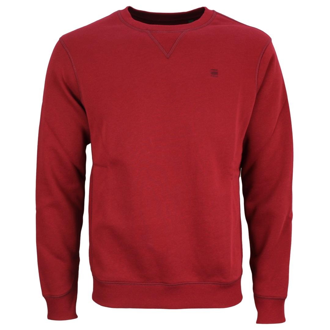 G-Star Raw Premium Core Sweat Shirt Sweatshirt Uni rot D16917 C235 1330 chateaux red