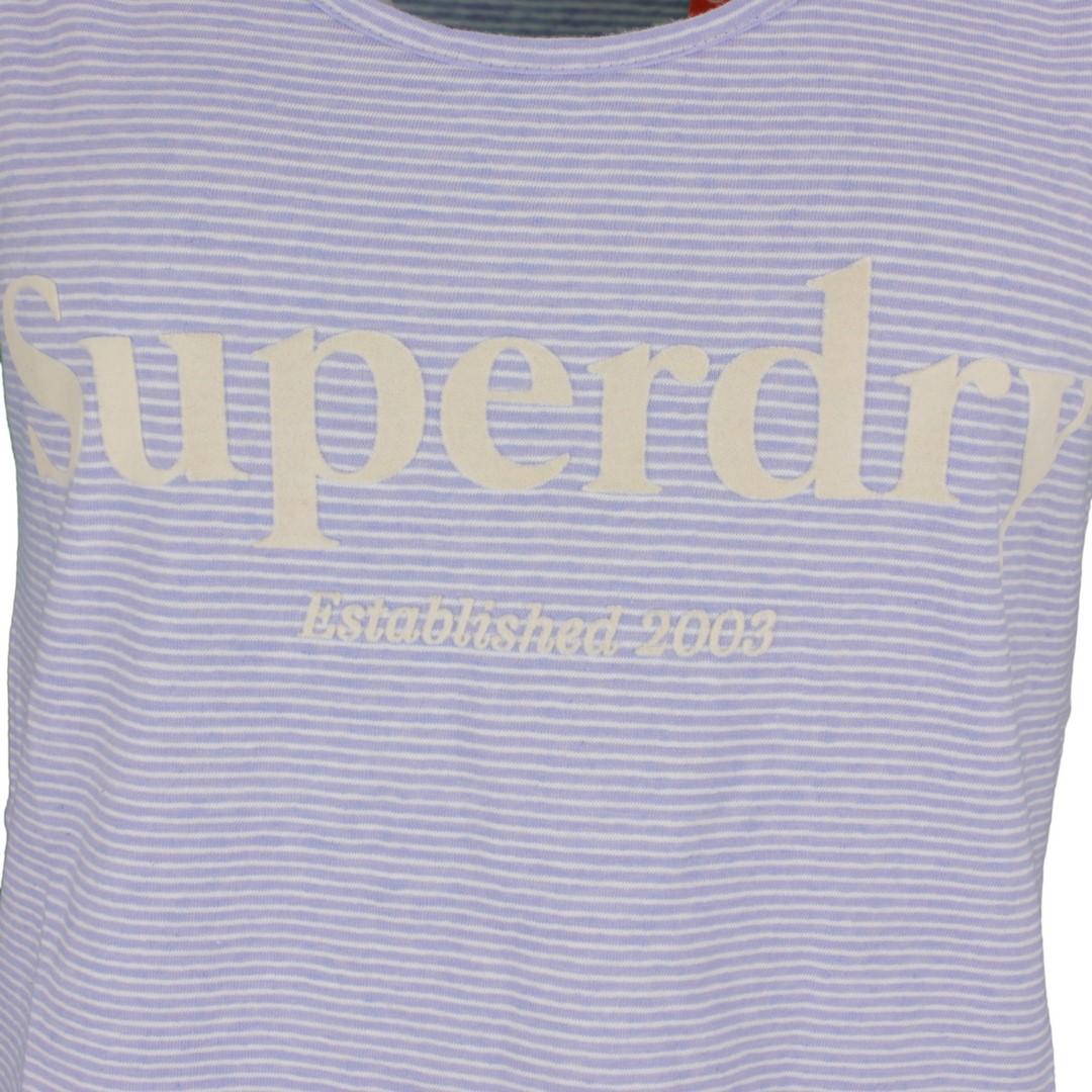 Superdry Damen Top Shirt Summer House Graphic Vest  blau gestreift W6010145A 2u7
