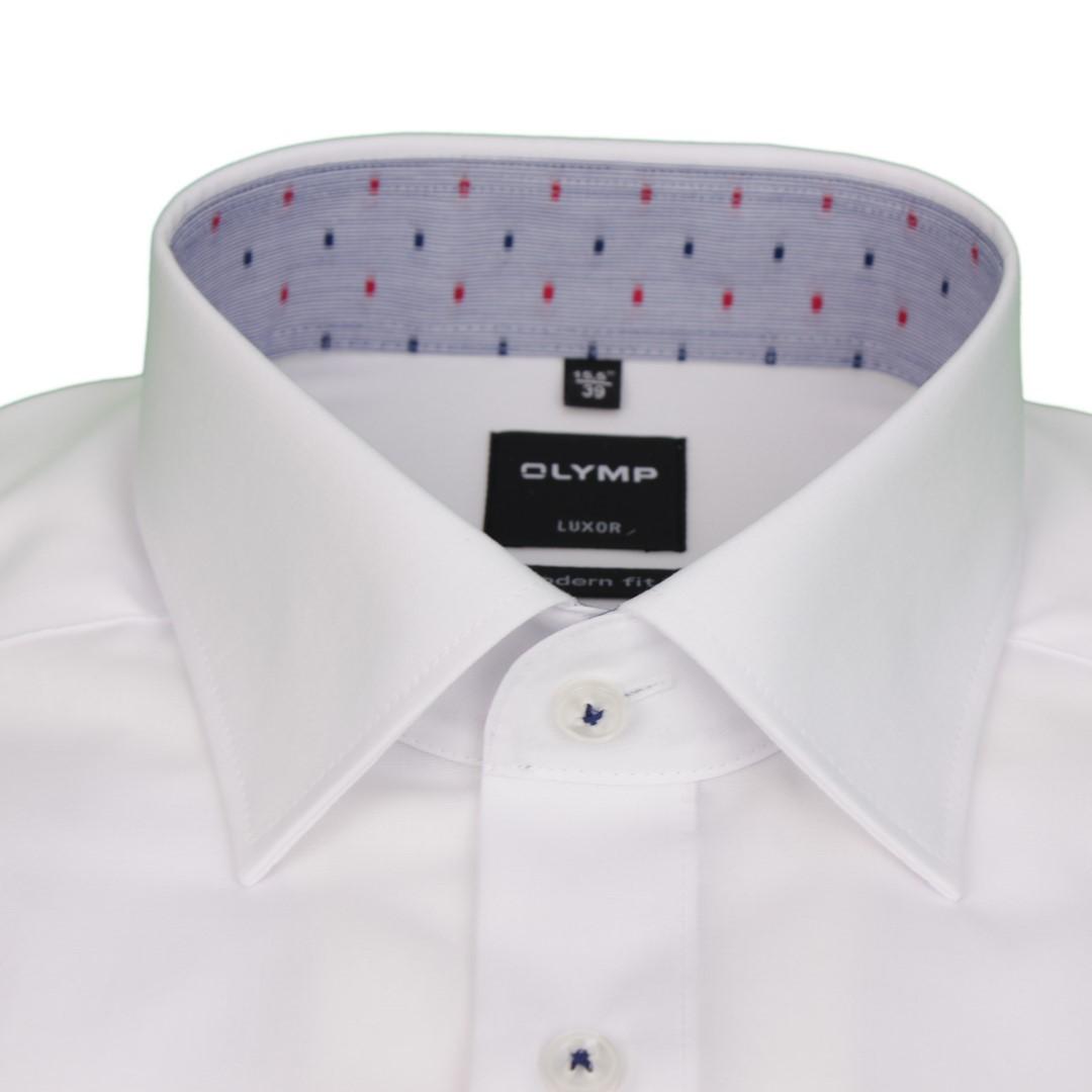 Olymp Herren Luxor Modern Fit Hemd weiß Unifarben 1882 90 00
