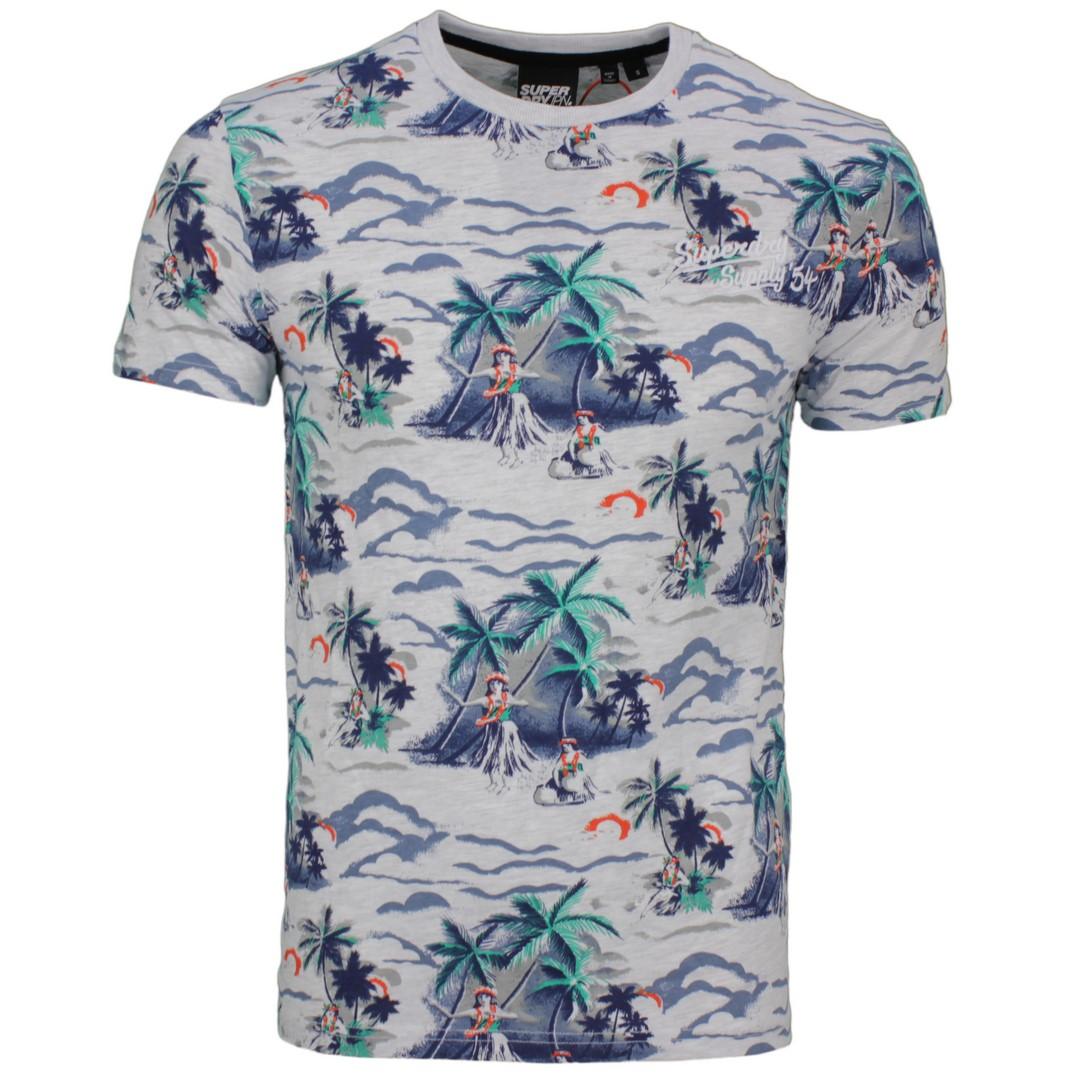 Superdry T-Shirt Supply Tee merfarbig All Over Print M1010191A CG8 ice marl AOP
