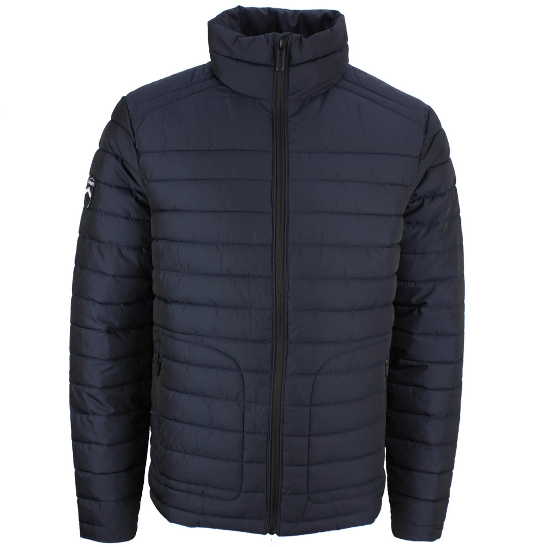 Superdry Winter Jacke Double Zip Fuji blau gesteppt M5010206A JKE deep navy