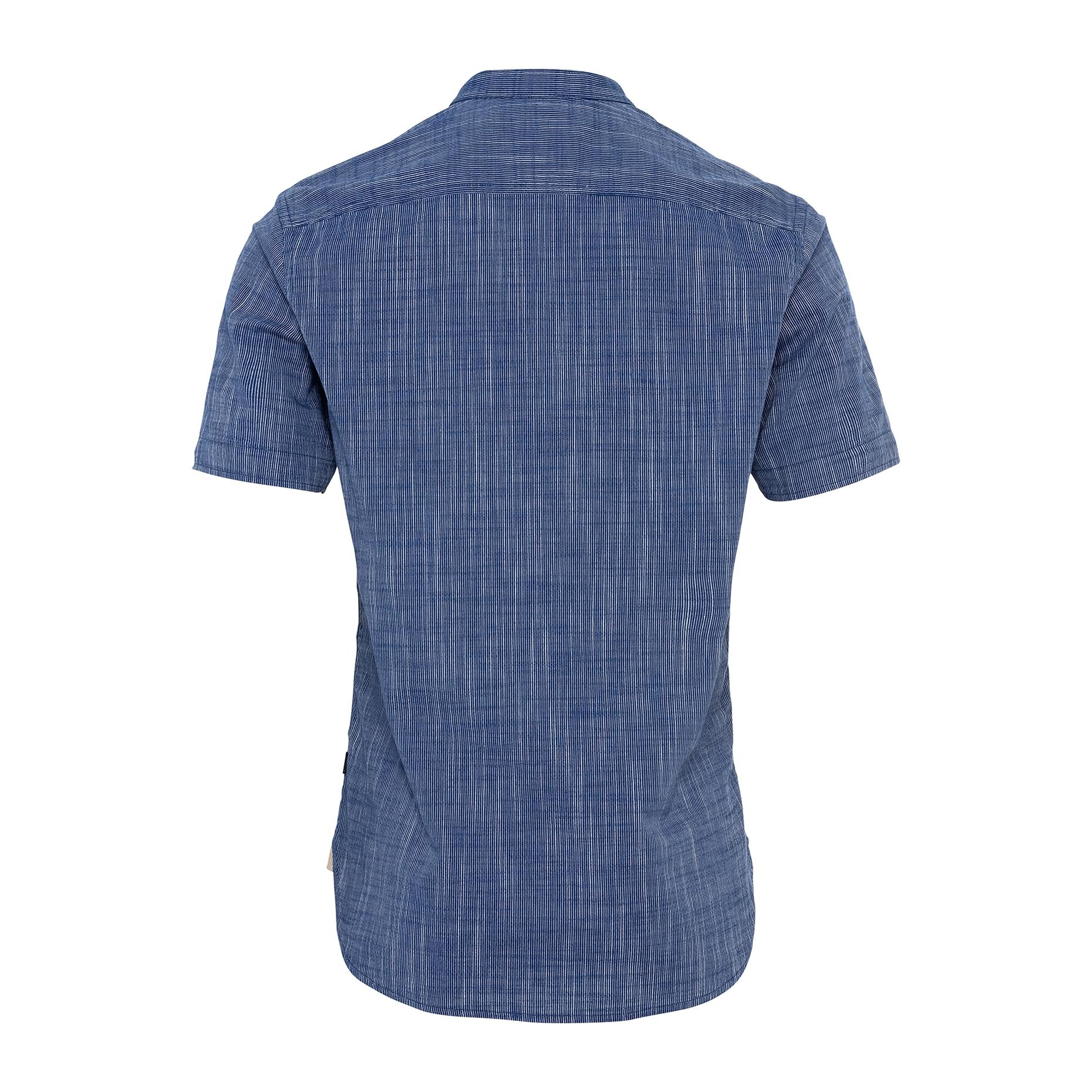 Camel active kurzarm Hemd blau meliert 5S45409227 46