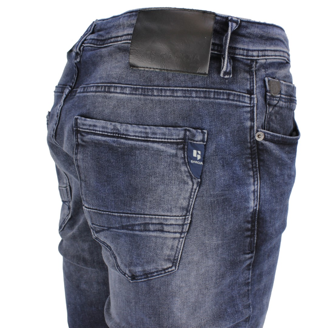 Garcia Herren Jeans Hose blau Stone Washed Savio 630 5520