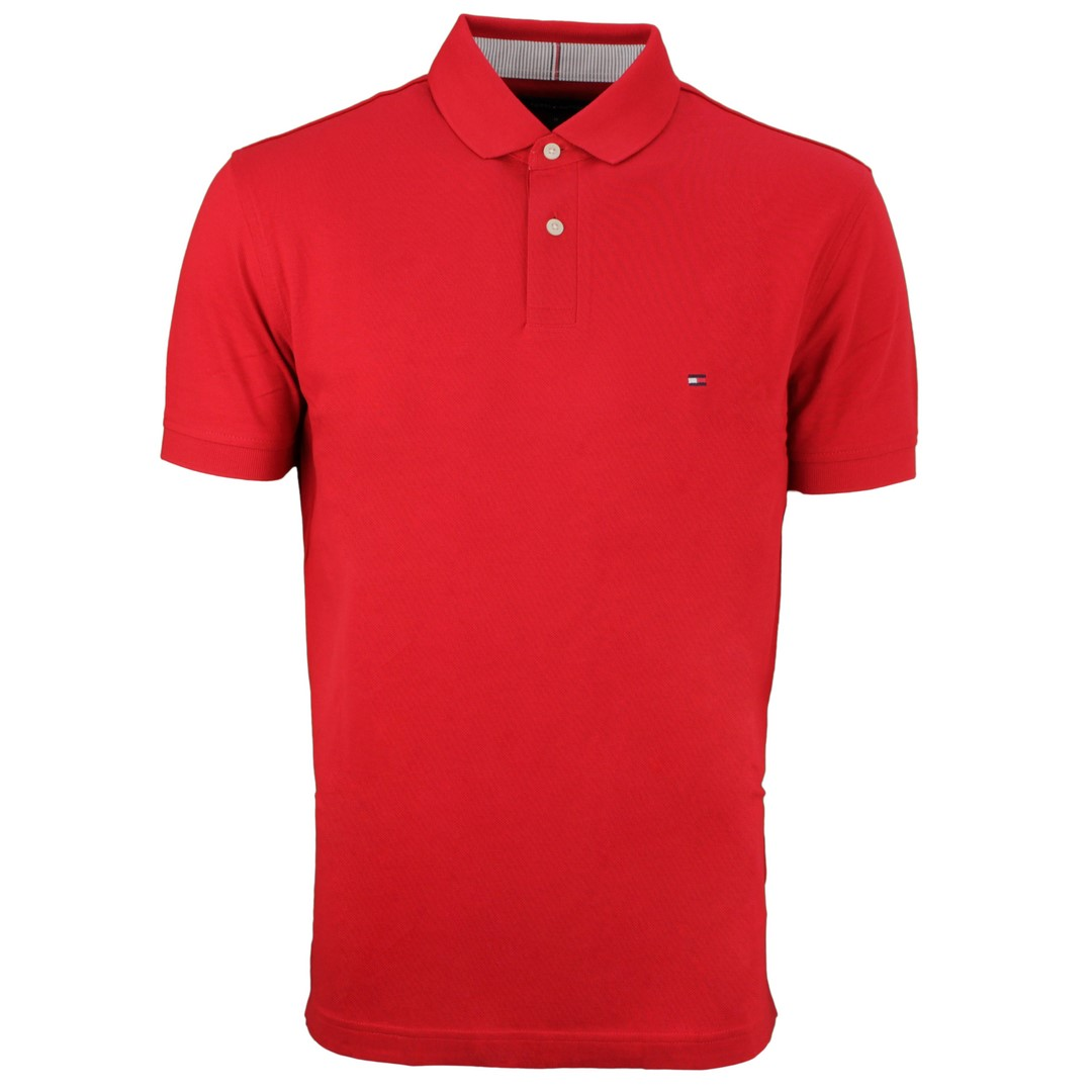 Tommy Hilfiger 1985 Regular Polo Shirt rot unifarben MW0MW17770 XLG Primary Red