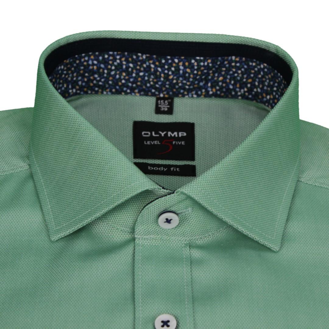 Olymp Body Fit Level 5 Hemd grün unifarben 5882 11 45