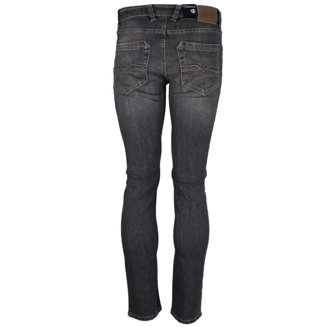 Gardeur Herren Denim Jeans Hose Modern Fit grau anthrazit BATU 71001 198