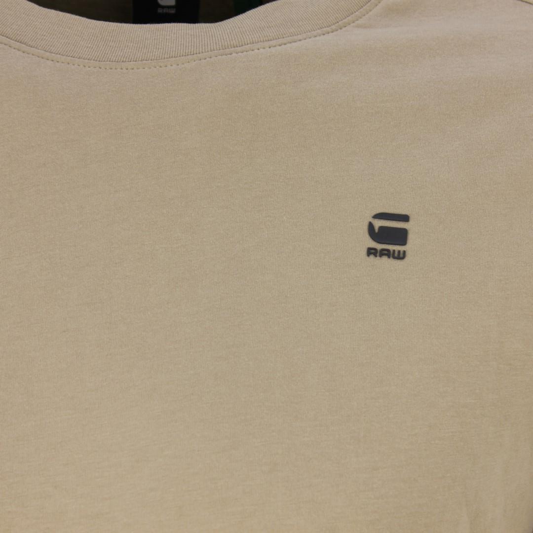 G-Star Raw langarm Shirt Lash beige unifarben D16397 B353 3000 LT Rock Compact