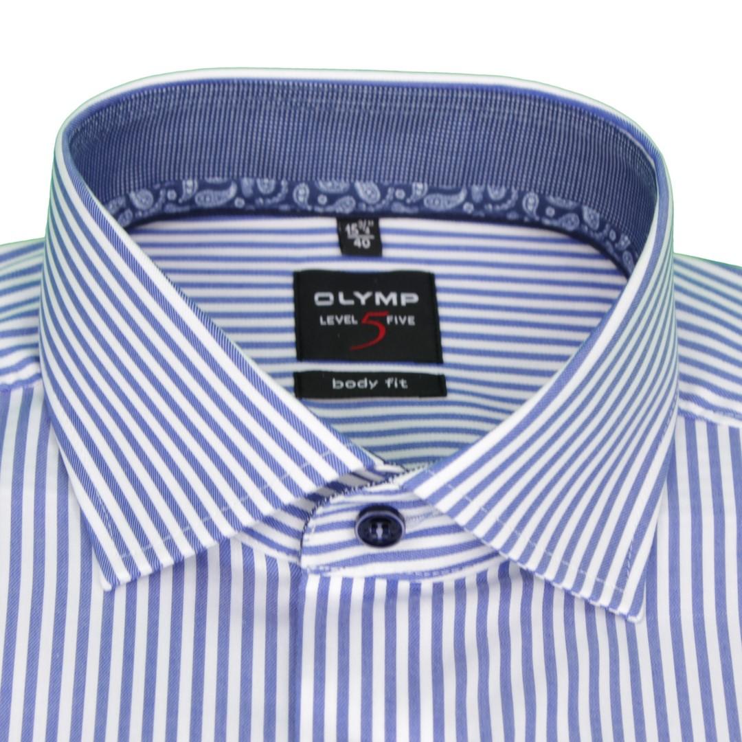 Olymp Body Fit Level 5 Hemd blau gestreift 2112 54 19