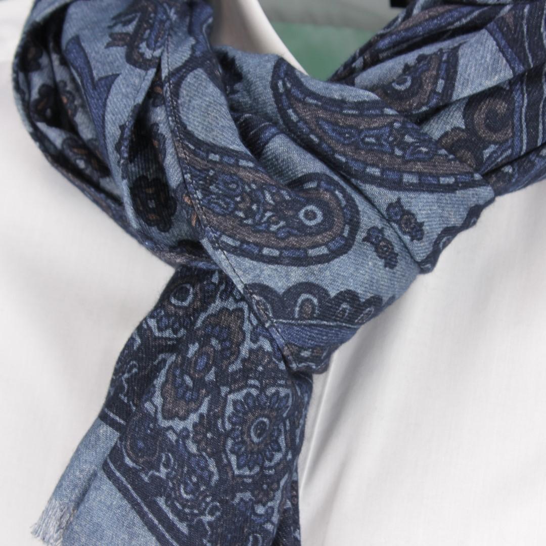 Ploenes Schal blau Paisleymuster 198121S002 002