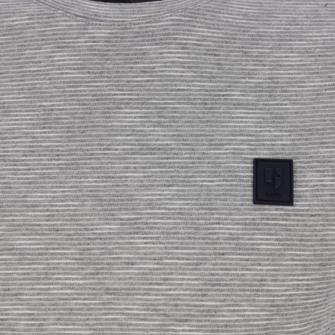 Garcia Herren langarm Shirt grau weiß gestreift GS010808 66 grey melange