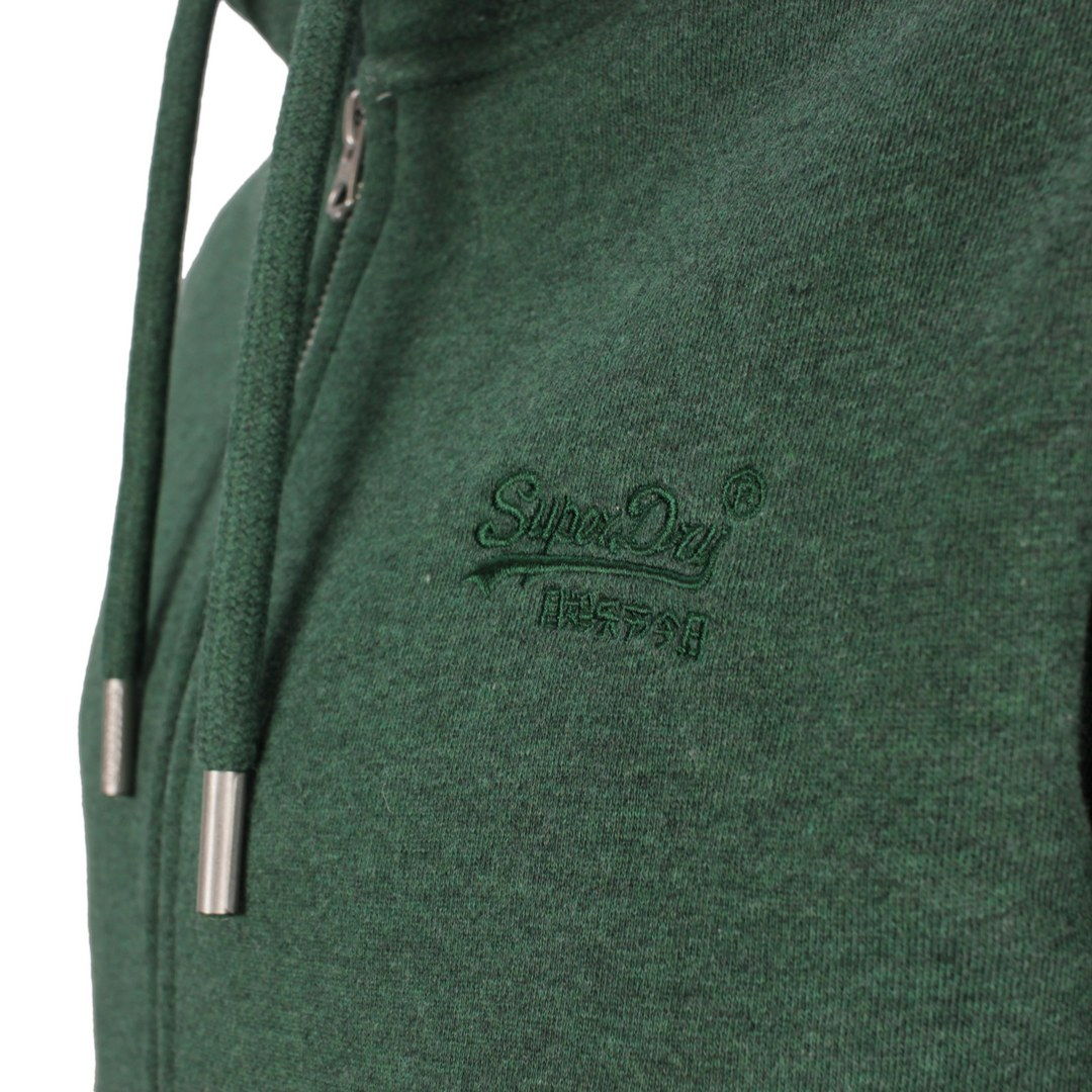 Superdry Sweat Jacke Weste Kapuzenjacke Vintage Logo EMB Ziphood M2011449A 6CV Pine Green Marl