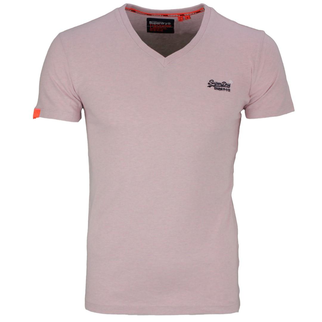 Superdry Herren T-Shirt Orange Label Vintage rosa M1010032A T7L Chalk Pink Feeder
