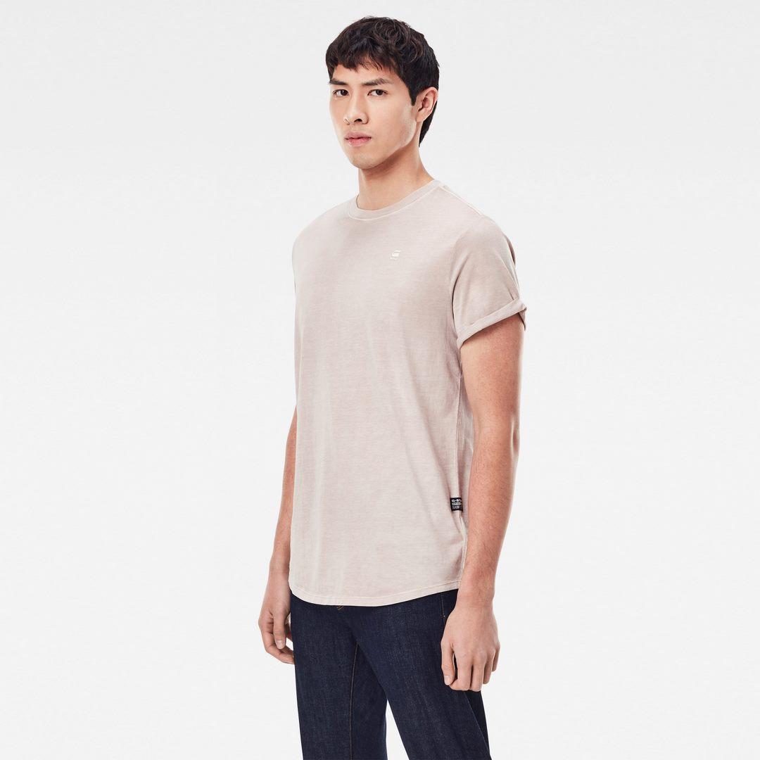 G-Star Raw Herren T-Shirt Lash Round Neck hell rosa unifarben D16396 2653 C332