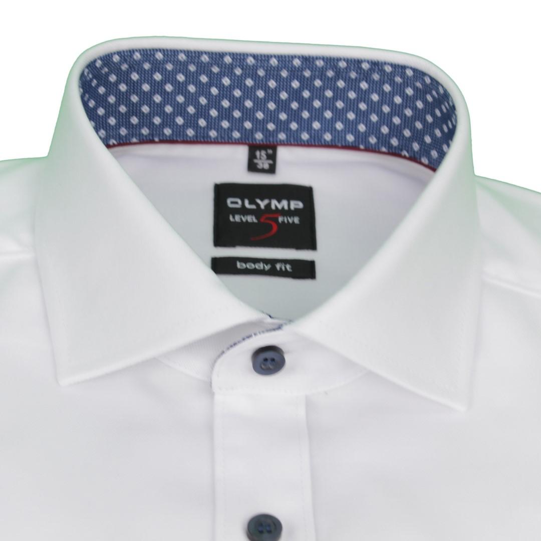 Olymp Body Fit Level 5 Hemd weiß unifarben 4887 21 00
