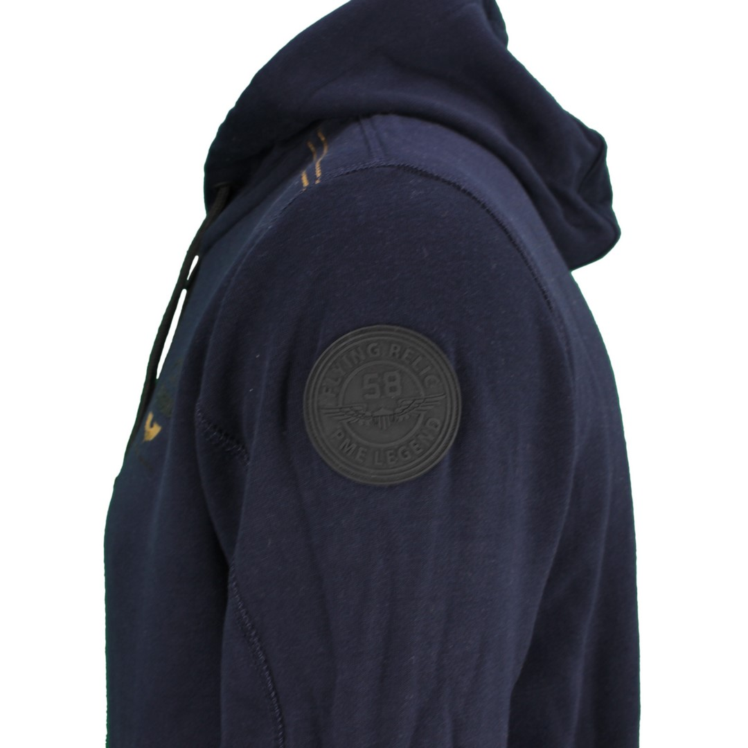 PME Legend Herren Sweat Jacke Brushed dunkel blau unifarben PSW211406 5073