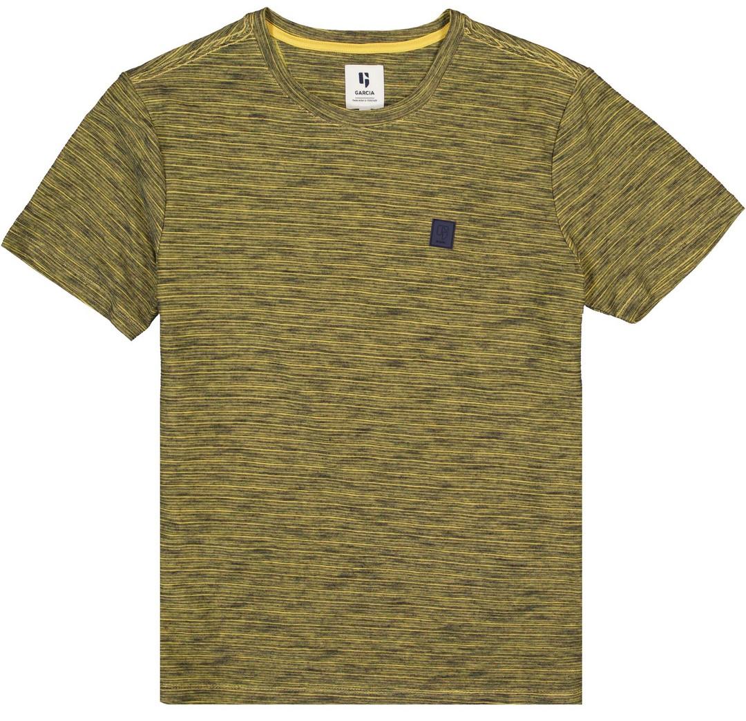 Garcia Herren T-Shirt Shirt kurzarm gelb meliert GS110201 3326 sunset