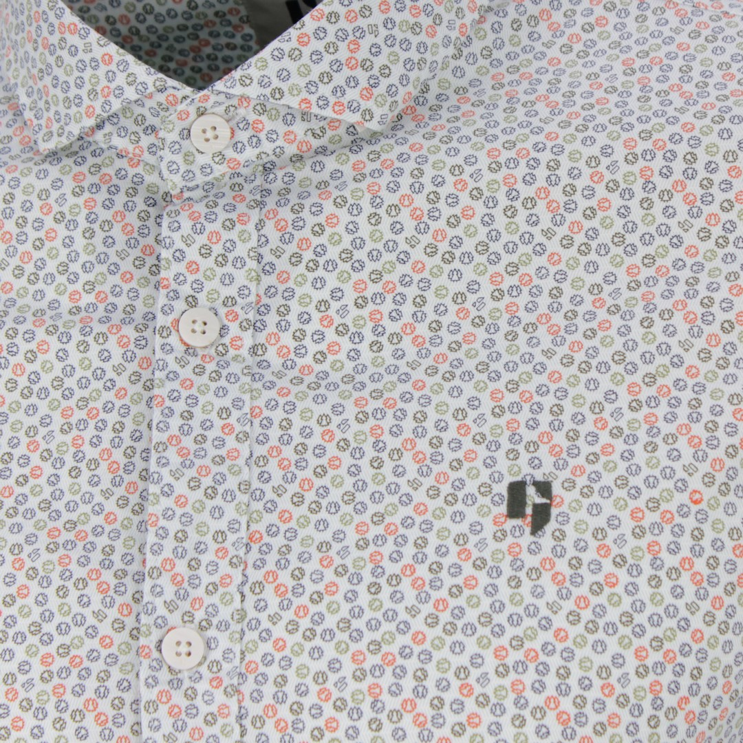 Garcia Herren Freizeit Hemd weiß All Over Print U01032 50 white