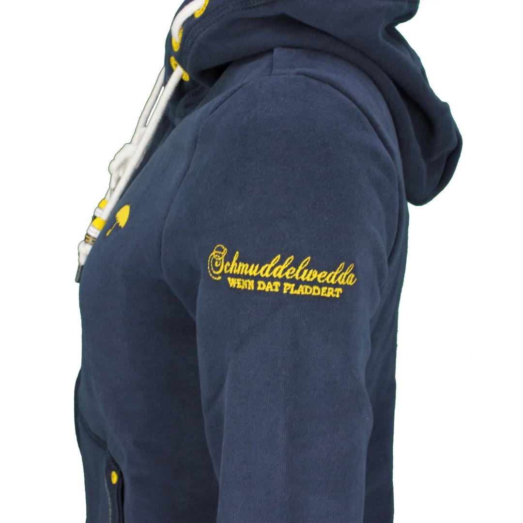 Schmuddelwedda Damen Sweat Jacke marine blau unifarben 34612153 marine