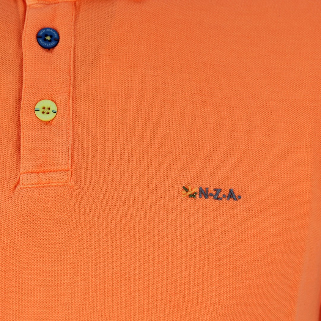 New Zealand Auckland NZA Polo Shirt orange unifarben 20CN150 461 orange