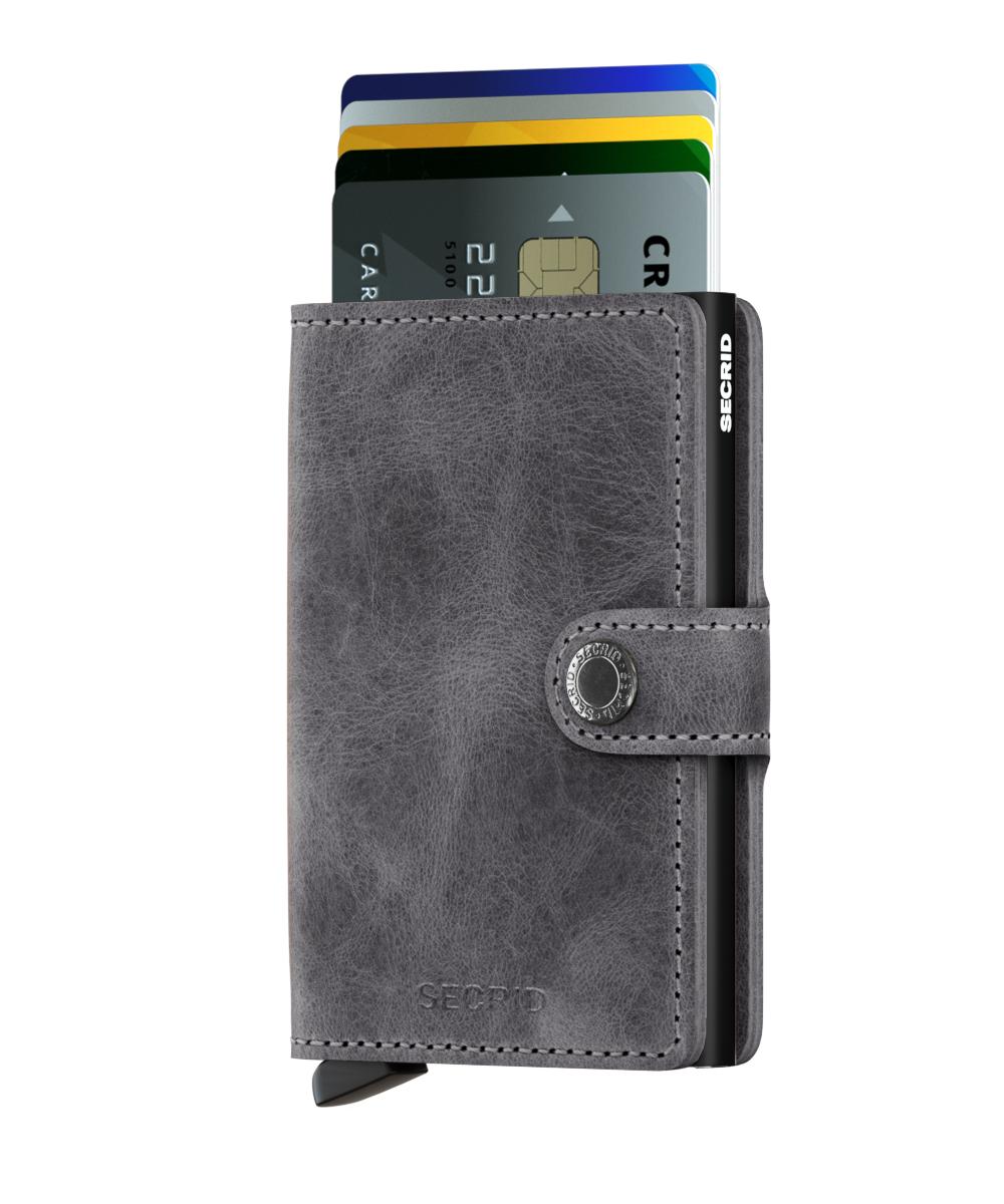 Secrid Miniwallet Vintage Grey Black Portmonnaie grau