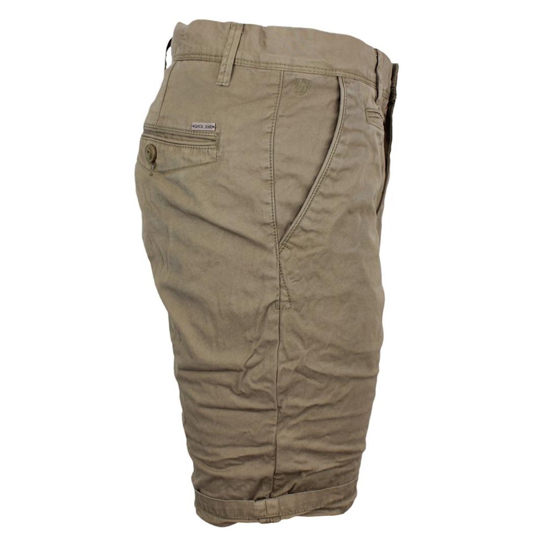 Garcia Herren Chino Short Unifarben Regular Fit grün Z1070 2090
