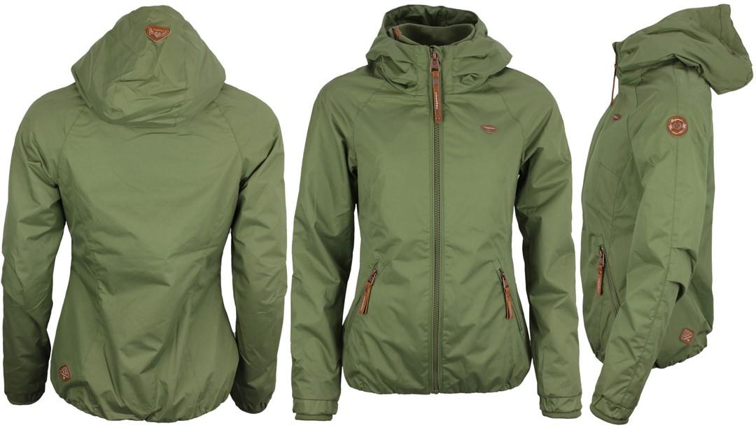 Ragwear Damen Sommer Jacke Olive grün unifarben Dizzie 2111 60007 5031 Olive