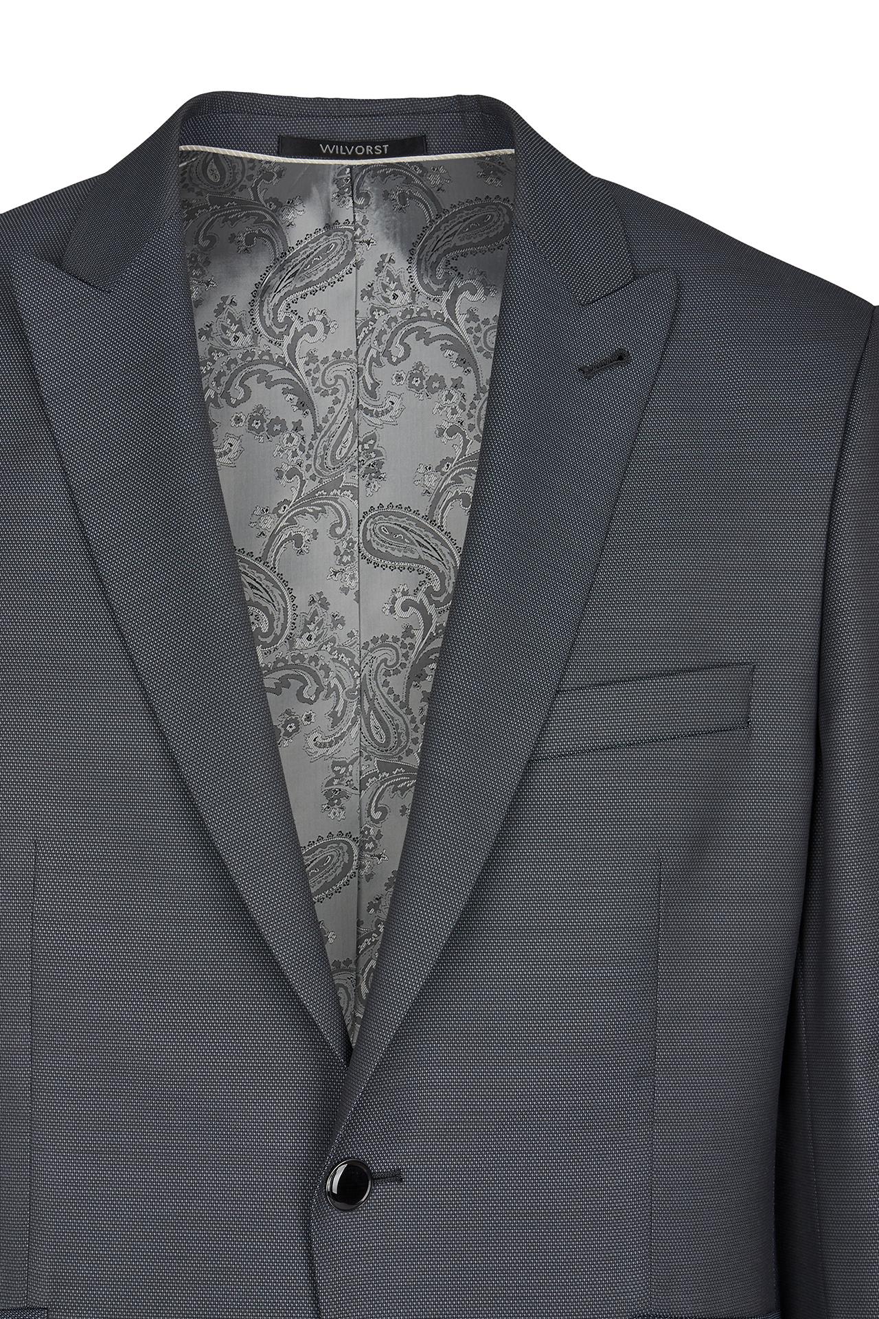 Wilvorst Herren Hochzeitsanzug Sakko anthrazit strukturiert 401101 021