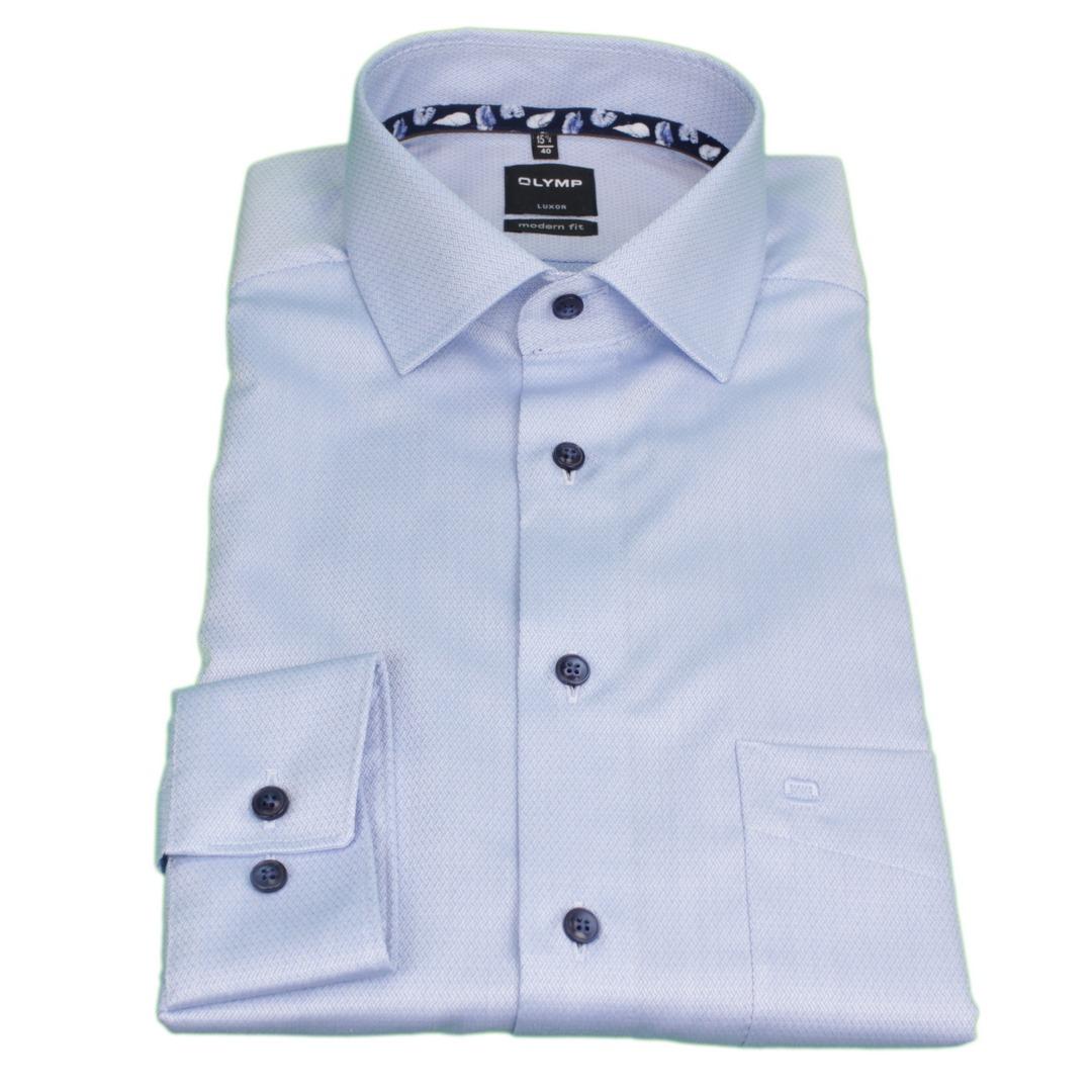 Olymp Luxor Hemd langarm Langarmhemd Businesshemd Modern fit strukturiert 122574 11