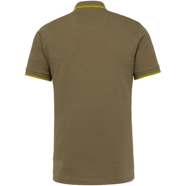 PME Legend Polo Shirt Stretch Pique Olive grün unifarben PPSS214871 6149