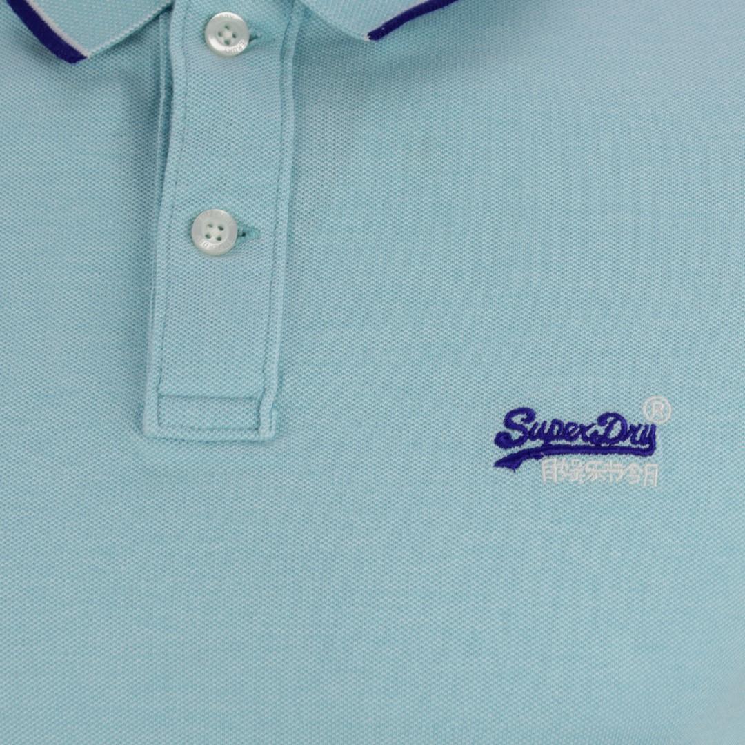 Superdry Herren Polo Shirt Pool Side Piqué grün M1110013A S2T Spearmint