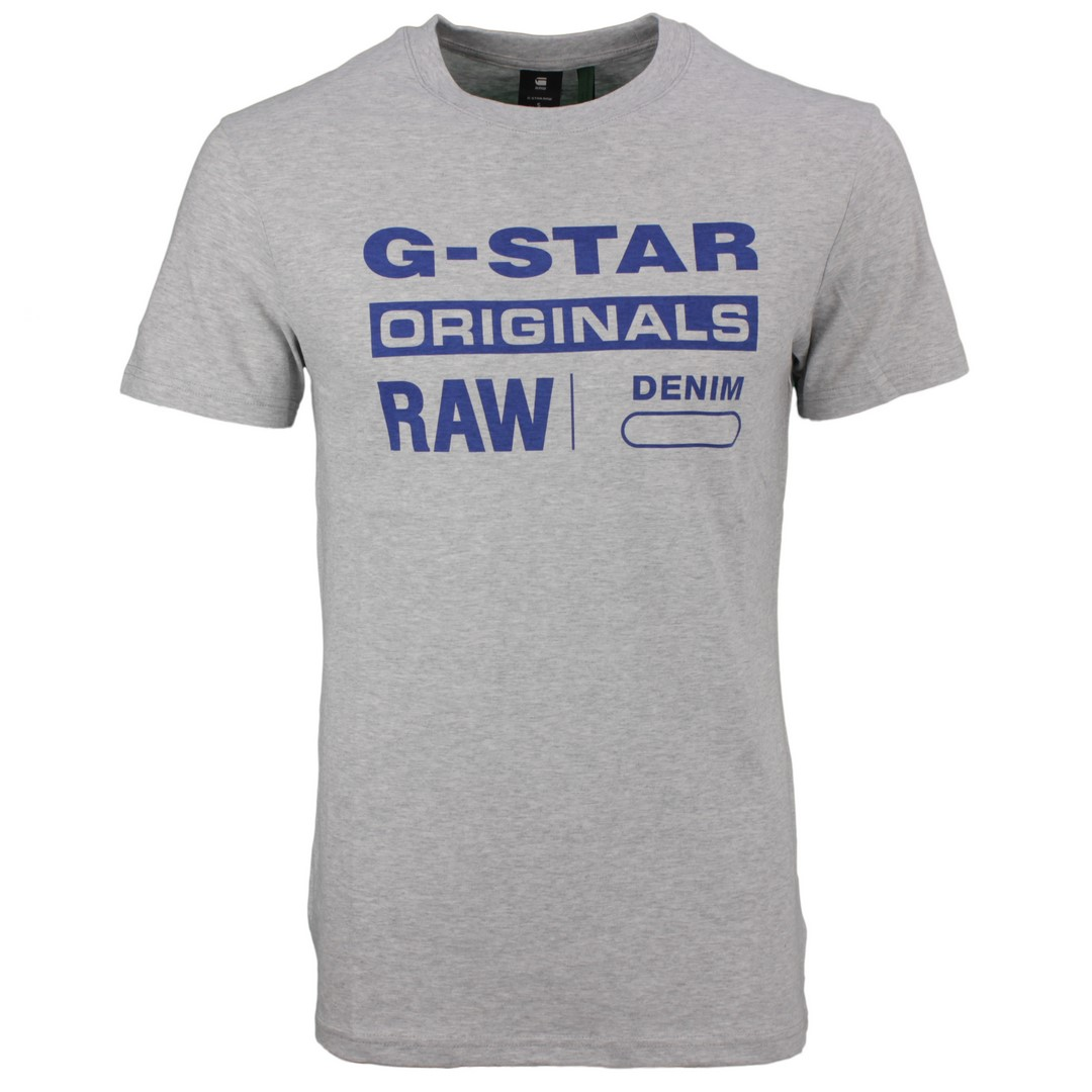 G-Star Raw Herren T-Shirt Graphic 8 grau unifarben D14143 336 A302