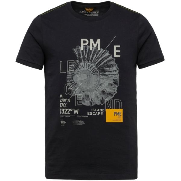 PME Legend T- Shirt Singel Jersey blau PTSS214557 5073