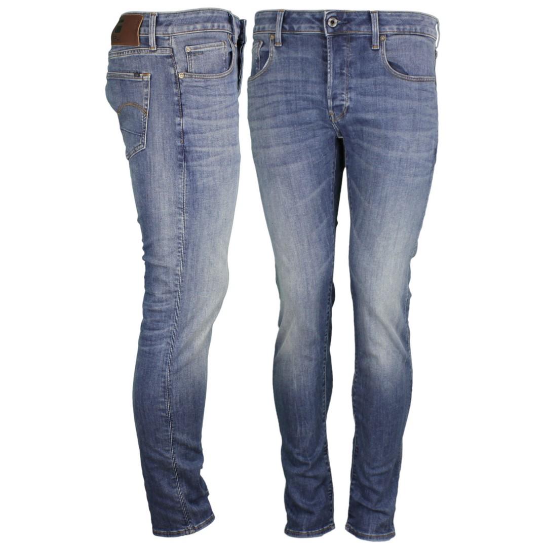 G-Star Herren Jeans 3301 Slim Fit medium blau 51001 8968 2965