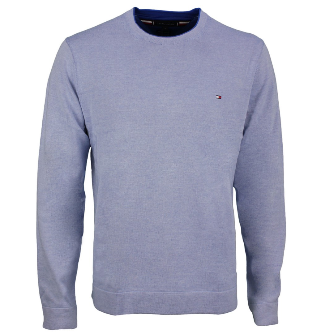 Tommy Hilfiger Strick Pullover Tipped Double Face blau MW0MW17349 C3Q Sweet blue